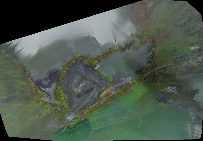 Ortofotomapa z drona, hałda Rudołtowice