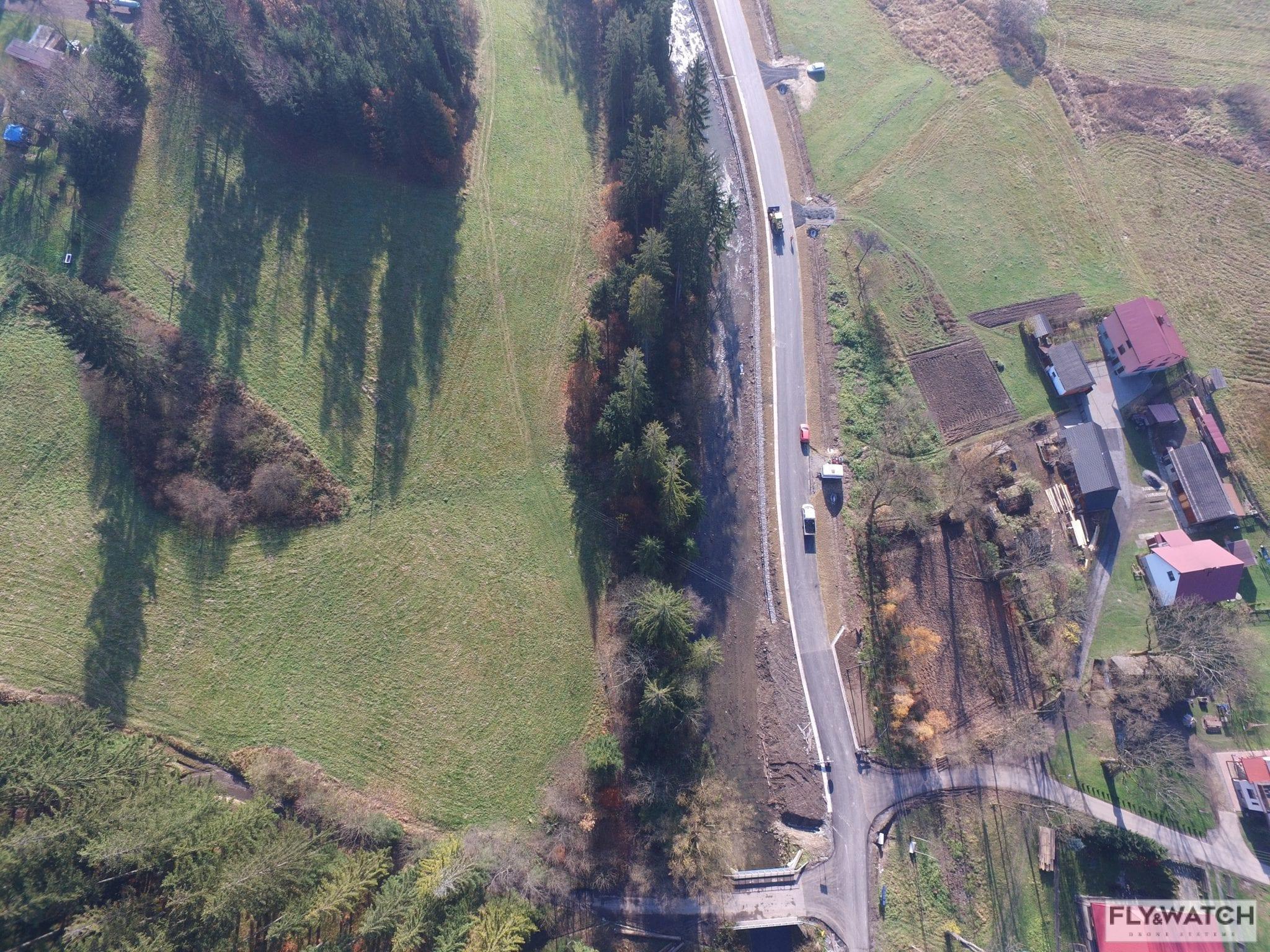 Budowa transgranicznego połączenia komunikacyjnego Jaworzynka – Čierne – Skalité – etap 2 dron flyandwatch 2017-11-08 (1)