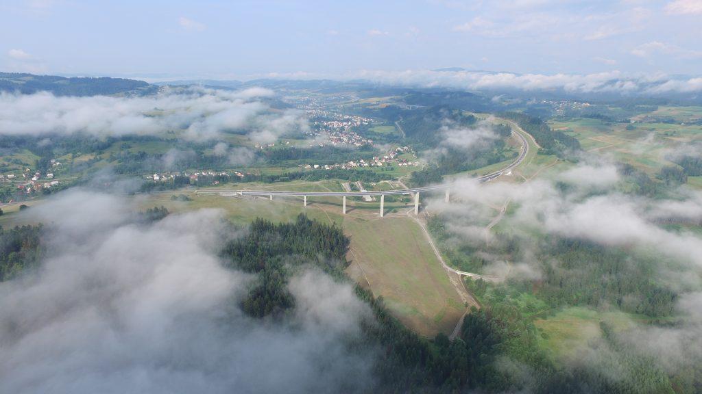 Budowa transgranicznego połączenia komunikacyjnego Jaworzynka – Čierne - Skalité – etap 2 (95) dron