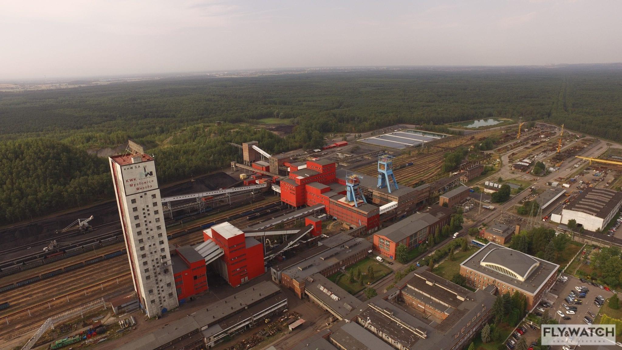 Inspekcja dronem torowisk KWK Mysłowice-Wesoła