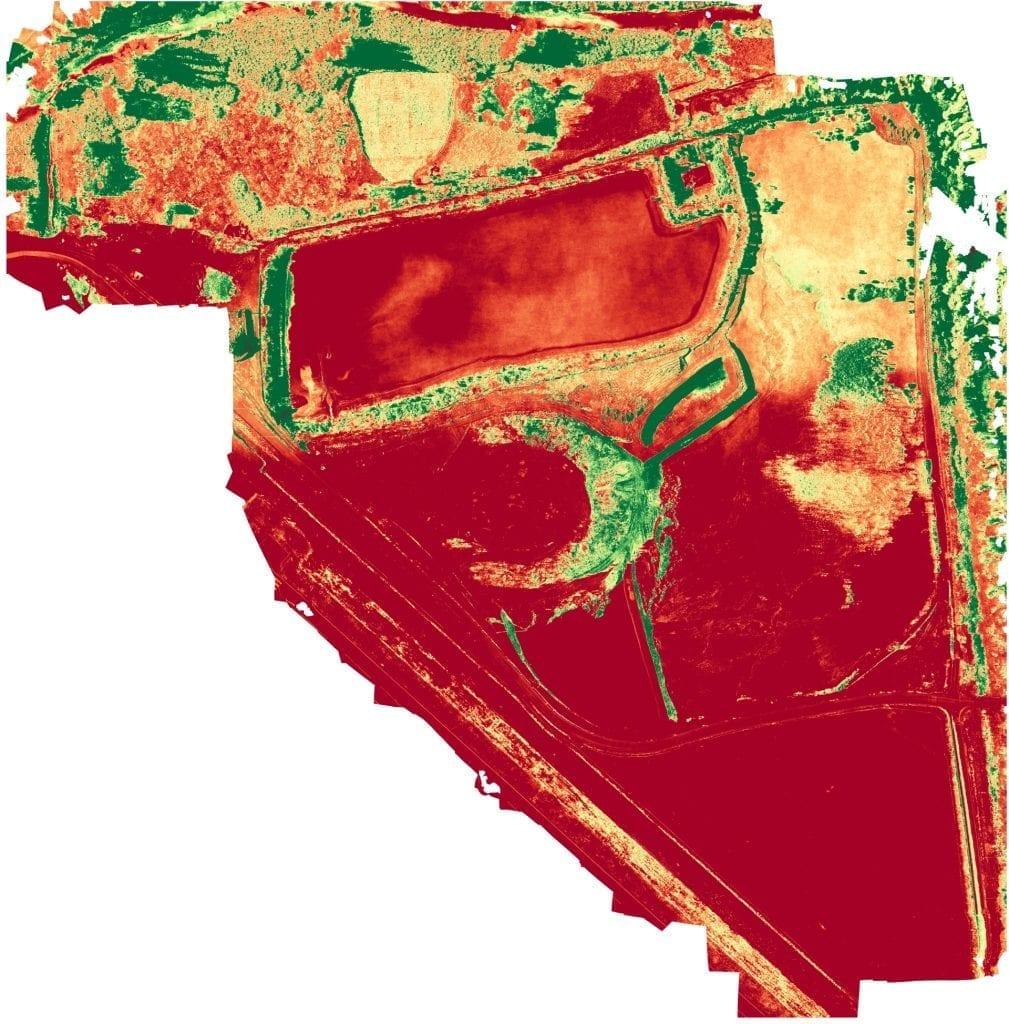 mapa rgb ndvi z drona