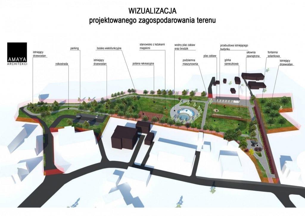 Budowa Wodnego Placu Zabaw iRolkostrady wPszczynie